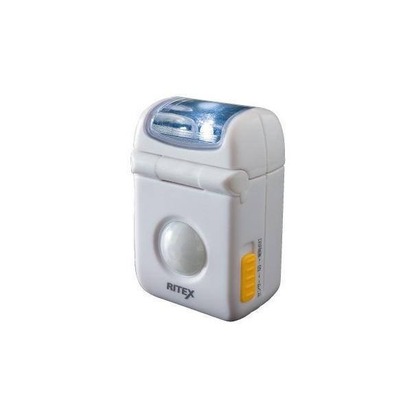 自動点灯・消灯モードで人感センサーによるセンサーライト【ムサシ】LEDマイクロセンサーライト ASL-010 ライテックス