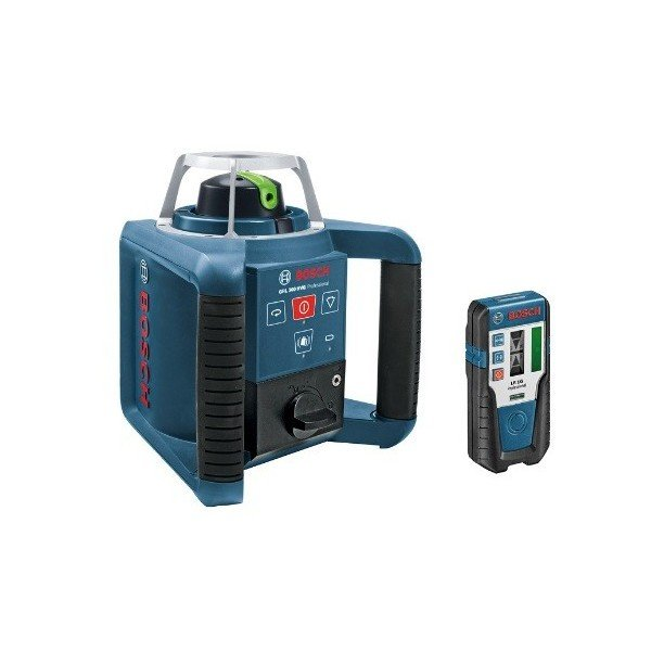 送料無料 ボッシュ ローテティングレーザー 受光器+リモコン+キャリングケース GRL300HVG レーザーレベル