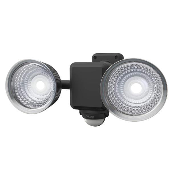 ムサシ 1.3W×2灯 フリーアーム式 LED乾電池センサーライト LED-225 ライテックス 220ルーメン LED寿命約40000時間 musashi