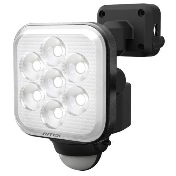 ムサシ 8W×1灯 フリーアーム式LEDセンサーライト LED-AC1008 ライテックス 750ルーメン LED寿命約40000時間 musashi
