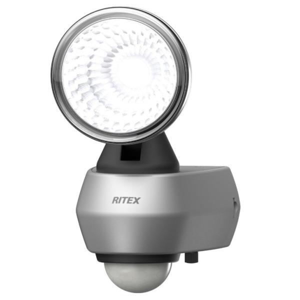 ムサシ 10W LEDセンサーライト LED-AC1010 コンセント式 センサー探知距離8m 点灯時間5秒〜5分 約830ルーメン ライテックス