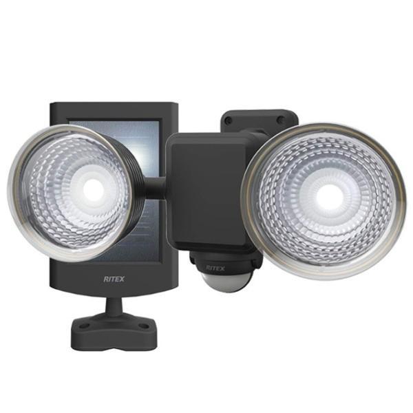 ムサシ 1.3W×2灯 フリーアーム式 LEDソーラーセンサーライト S-25L ライテックス 220ルーメン LED寿命約40000時間 musashi
