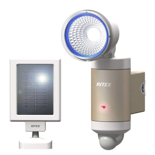 ムサシ 3Wx1灯 LEDソーラーセンサーライト S-30L ライテックス フラッシング機能 ソーラー式LED 240ルーメン 探知距離約6m musashi