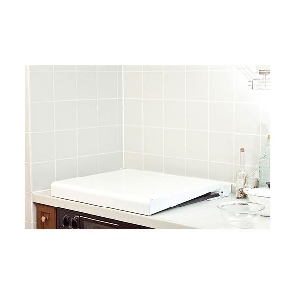 池永鉄工IK2-60Wシステムキッチン用コンロカバーホワイト60cm幅のビルトインコンロ用