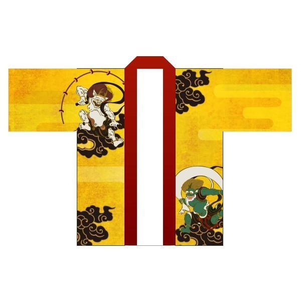 風神雷神はっぴ(国産法被) 男女兼用・Fサイズ ポリエステル使用|kanbankobo|02