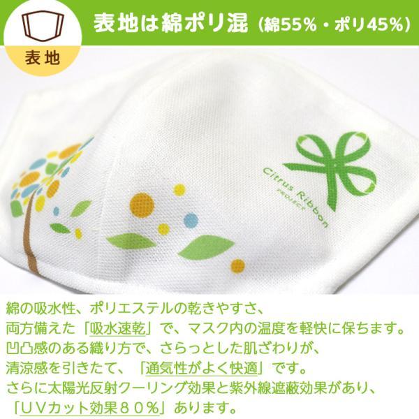 接触冷感シトラスリボンマスク大人用(愛媛県/日本製)洗える1枚入 kanbankobo 10