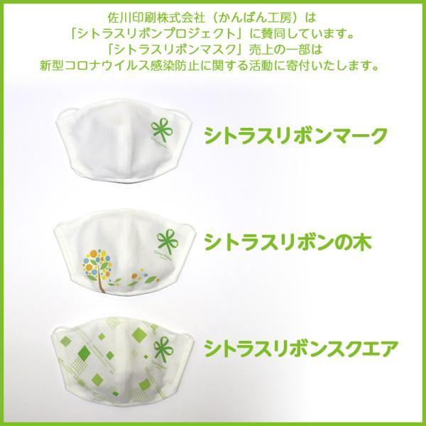 接触冷感シトラスリボンマスク大人用(愛媛県/日本製)洗える1枚入 kanbankobo 08