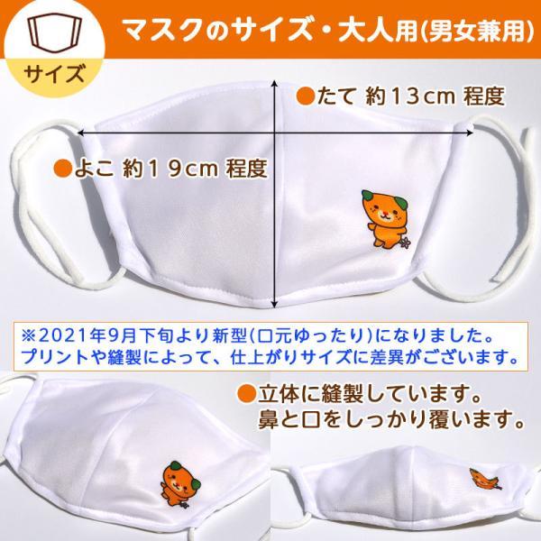 オリジナルみきゃん大人用マスク(愛媛県/日本製)洗える1枚入 水着素材|kanbankobo|05
