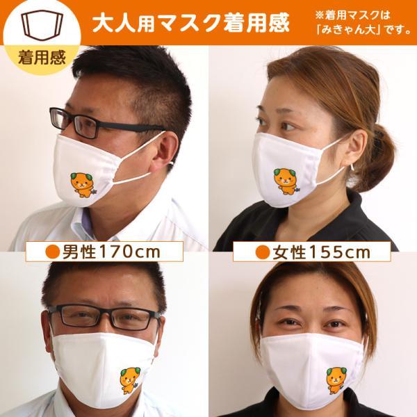 オリジナルみきゃん大人用マスク(愛媛県/日本製)洗える1枚入 水着素材|kanbankobo|06