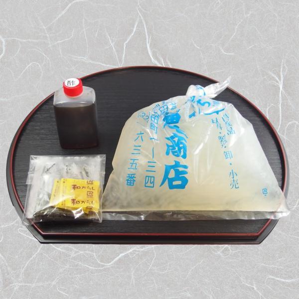 ところてん 2人前セット 神田の手作り寒天 伊豆・伊豆諸島産の天草で作った生寒天|kanda-fukuoshouten|03