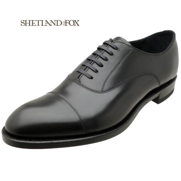 シェットランド フォックス SHETLAND FOX コベントリー ストレートチップ 002FSF ブラック 本革 靴 メンズ ビジネスシューズ kanda-mimatsu
