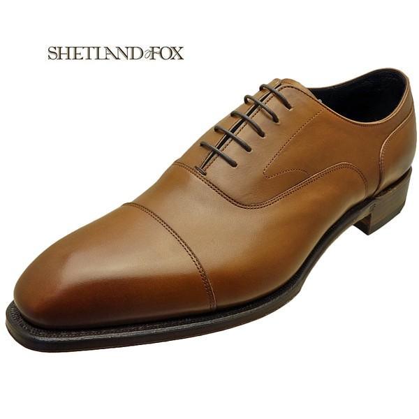 シェットランド フォックス SHETLAND FOX バーミンガム ストレートチップ 041FSF ブラウン 本革 靴 メンズ ビジネスシューズ|kanda-mimatsu
