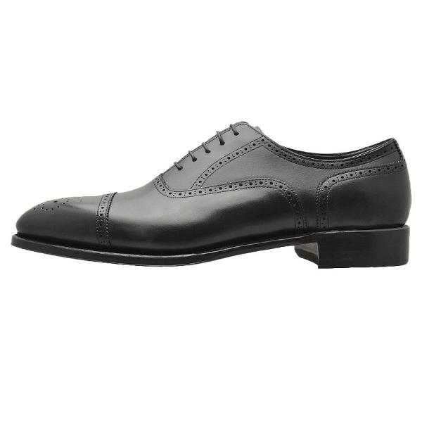 シェットランド フォックス SHETLAND FOX バーミンガム セミブローグ 042FSF ブラック 本革 靴 メンズ ビジネスシューズ|kanda-mimatsu|02