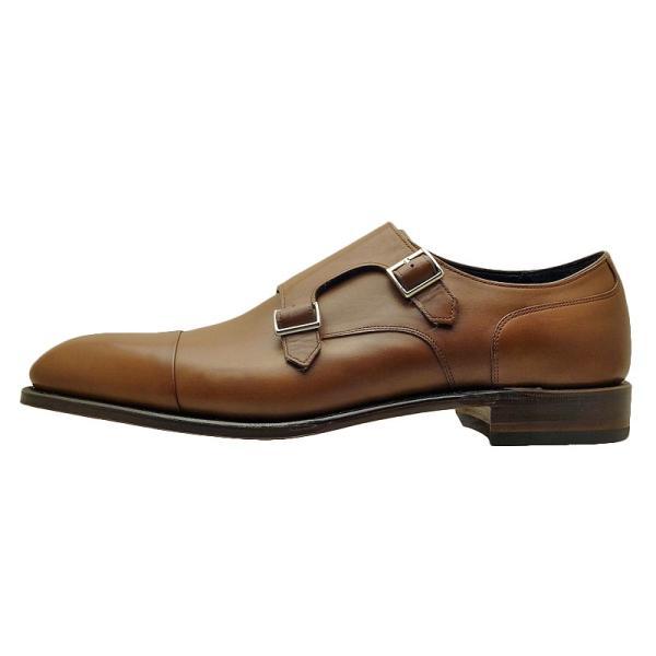 シェットランド フォックス SHETLAND FOX バーミンガム ダブルモンクストラップ 043FSF ブラウン 本革 靴 メンズ ビジネスシューズ|kanda-mimatsu|02