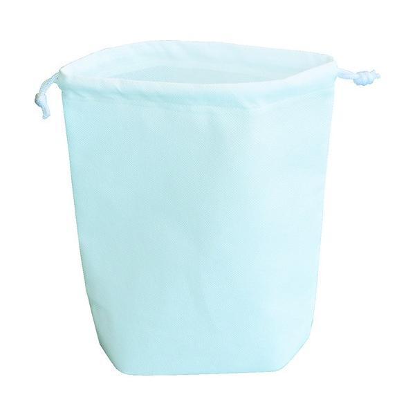 TRUSCO 不織布巾着袋 A4サイズ マチあり ホワイト 10枚入