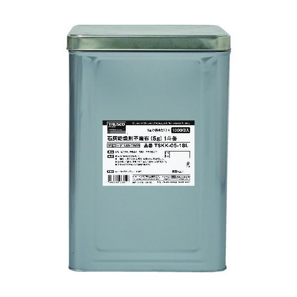 TRUSCO 石灰乾燥剤 (耐水、耐油包装)  5g 1000個入 1斗缶