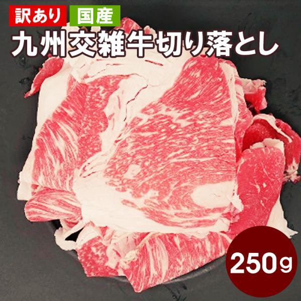 【訳あり】【国産牛】九州交雑牛切り落とし250g|kande-pro