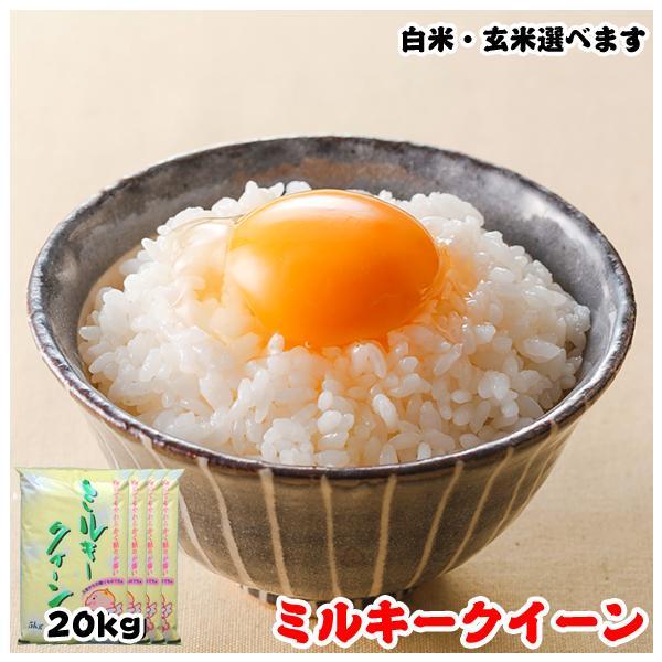米 お米 20kg (5kgx4袋) 千葉県産 ミルキークイーン 白米or玄米選択可|kanekokome
