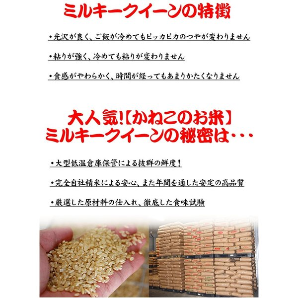 新米 2018 お米 2kg 千葉県産 ミルキークイーン 白米or玄米選択可 ラッピング対応不可 kanekokome 04