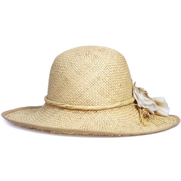 ラフィアキャペリン イタリア製 婦人 フリーサイズ UV対策 日除け ラフィア 天然素材 プレゼント 母の日ギフト