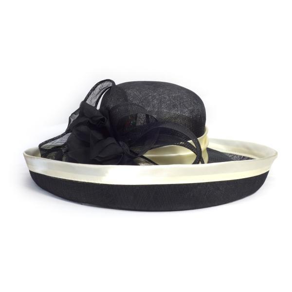 Complit By Marisa イタリーシナマイエッジup インポート イタリア製 高級 婦人 天然素材 母の日 日除け ブラック系
