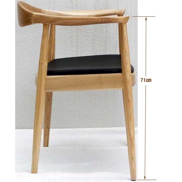 ザ・チェア(TheChair)ハンスJウェグナーデザインのリプロダクト製品 ナチュラル/ブラウン W630×D530×H765×SH450(肘高71cm)【送料無料】 kanesen-kagu 02