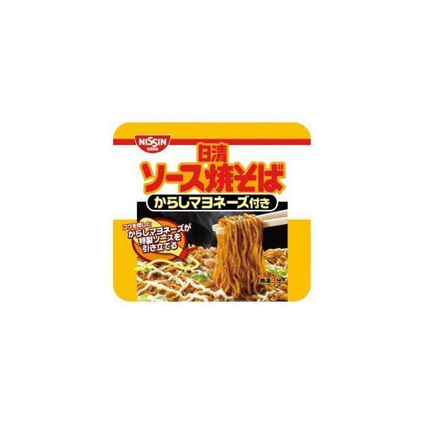 日清食品 日清ソース焼そば カップ からしマヨネーズ 1箱12食