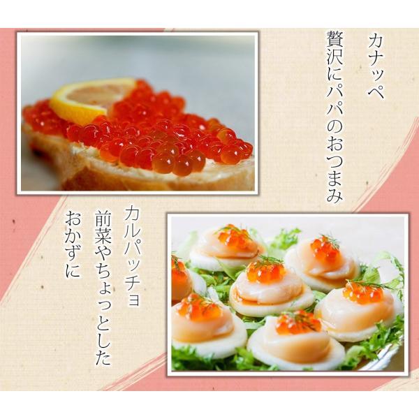 いくら醤油漬 ( サーモントラウト 卵 ) 500g(250g×2パック入り) / 北欧サーモン いくら イクラ 小粒|kanipara|10