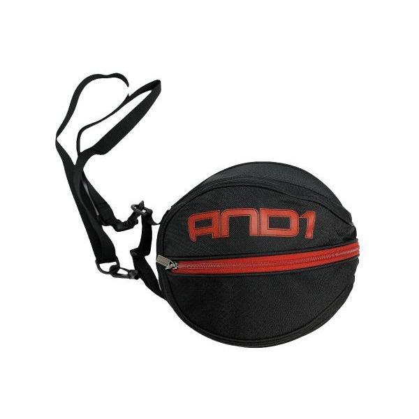 AND1 バスケット SURFACE BALL BAG ボールバッグ 05979 ブラック×レッド アンドワン ミニバス ダンス|kanisponet|03
