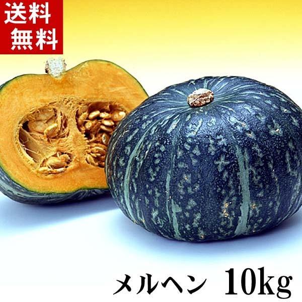 (送料無料)北海道産カボチャ メルヘン 10kg(5〜7玉入り)粉質でホクホクな南瓜。北海道かぼちゃ野菜グルメお取り寄せ