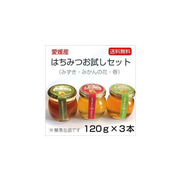 はちみつ3種セット120g×3本<みかんの花・春・ミズキ>|kanjyukuya