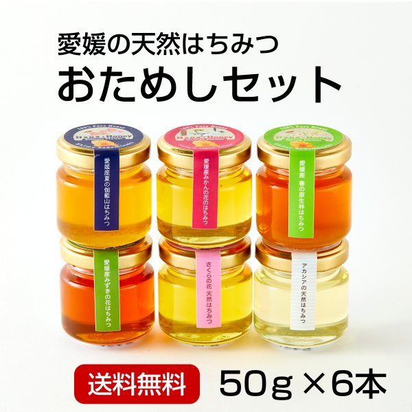はちみつお試し50g×6本<みかん・春・夏・ミズキ・桜・アカシア> kanjyukuya