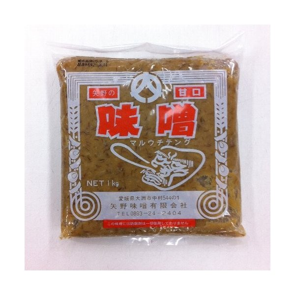 【矢野みそ】麦みそ(甘口)1kg|kankitsu
