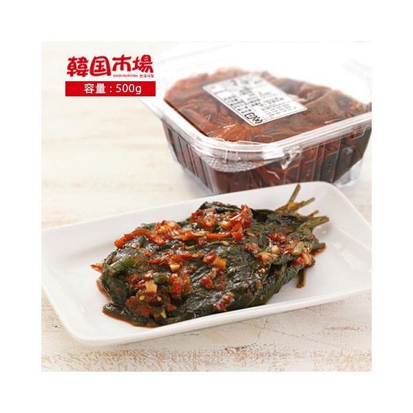 [冷]市場生エゴマの葉キムチ500g/韓国キムチ/韓国惣菜|kankoku-ichiba