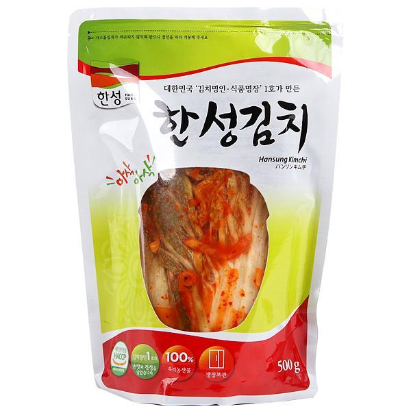 [冷]ハンソン白菜キムチ500g(韓国産):9/10入荷/韓国キムチ/白菜キムチ