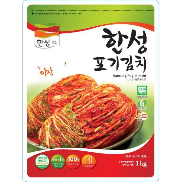 [冷]ハンソン白菜キムチ1kg(韓国産):3月8日入荷/韓国キムチ/白菜キムチ kankoku-ichiba