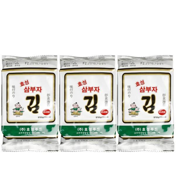 【パッケージ変更】サンブジャお弁当用海苔1袋(10枚×3)/韓国海苔/味付け海苔/韓国食品 kankoku-ichiba