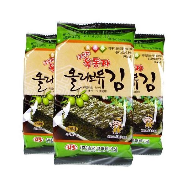 【SALE】オリーブ油お弁当用海苔1箱(24袋×99円)/韓国海苔/味付け海苔/韓国食品|kankoku-ichiba