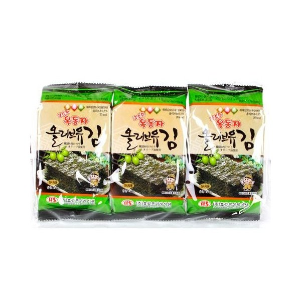 【SALE】オリーブ油お弁当用海苔1箱(24袋×99円)/韓国海苔/味付け海苔/韓国食品|kankoku-ichiba|02