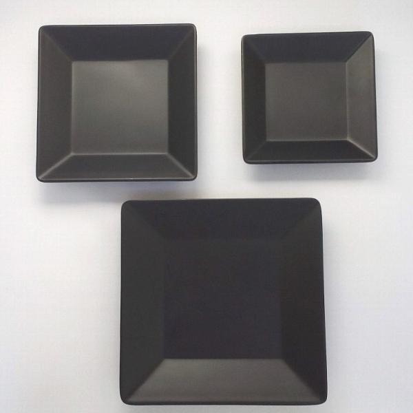 スタイリッシュ メラミン食器 (Mat Black)【スクエアプレート□144mm】洋風 カフェ用のおしゃれなお皿|kankokunabepro|05