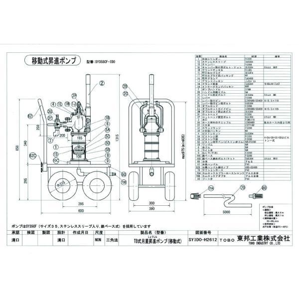 TOBO東邦工業 移動式手押しポンプ<月星昇進ポンプ型>『それ行けポンプ』SY35SCF−IDO|kankyogreenshop2|02