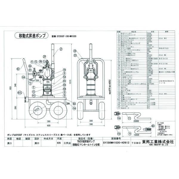 TOBO東邦工業 移動式手押しポンプ<月星昇進ポンプ型>『それ行けポンプ』SY35SCF−IDO−MH1020|kankyogreenshop2|02