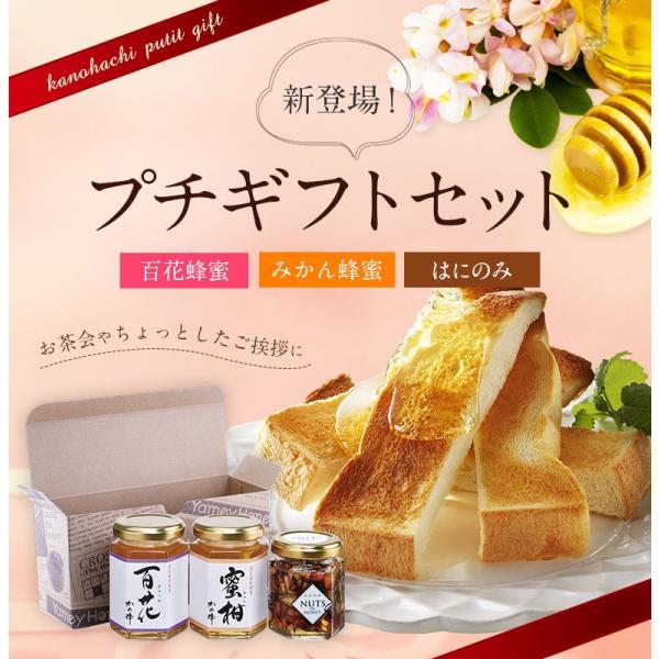 蜂蜜ギフト 国産百花蜂蜜・国産みかん蜂蜜・はにのみセット(専用箱入り)蜂蜜プチギフト 蜂蜜専門店 かの蜂