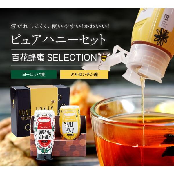 ピュアハニープッシュボトル2種(ヨーロッパ産・アルゼンチン産)セット ギフト PURE HONEY 国産蜂蜜 はちみつ 蜂蜜専門店 かの蜂