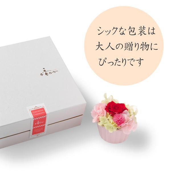花 スイーツ 夏ギフト お中元 誕生日 お祝い プレゼント 記念日 フラワーギフト 豊潤 チーズケーキ 4号 と プリザードフラワー アレンジメント バースデーケーキ|kanoka-cake|05