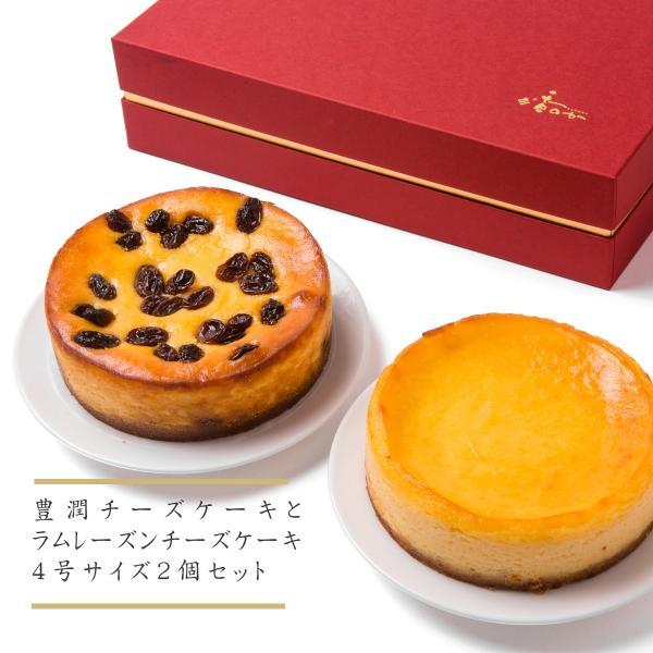 チーズケーキセット 人気の豊潤とラムレーズンチーズケーキの組み合わせ お取り寄せ ギフトに最適|kanoka-cake