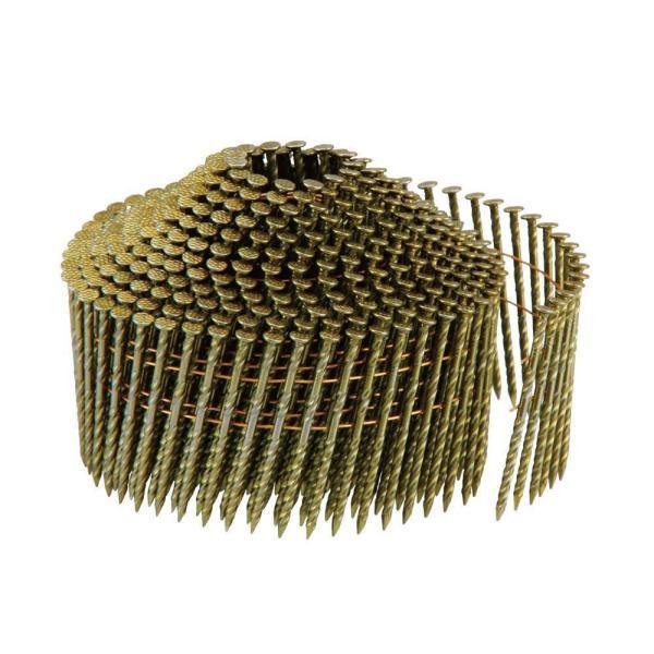 代引不可品  (W)ワイヤー スクリュー釘 山形巻 2.1×38 400本巻×10巻 WS2138C