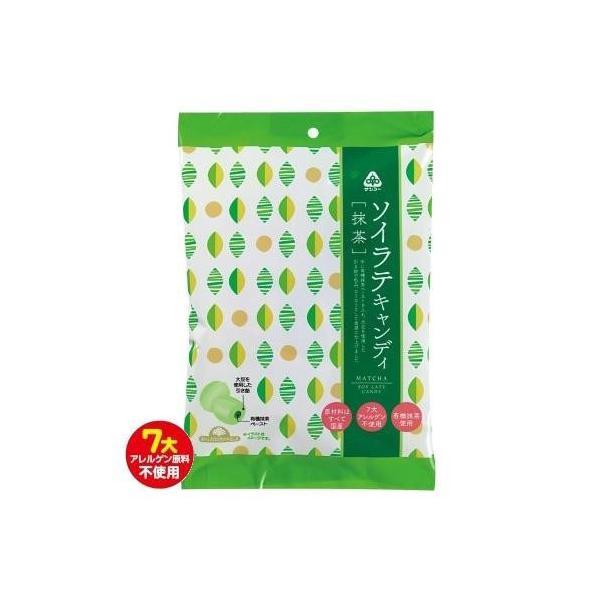 代引不可品  サンコー ソイラテキャンディ 抹茶 15袋