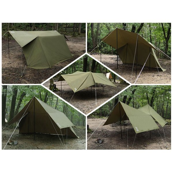 タープテント タープ 長方形 テント 一人用 コンパクト dod ヌノイチS T2-593-TN|kanon-web|05
