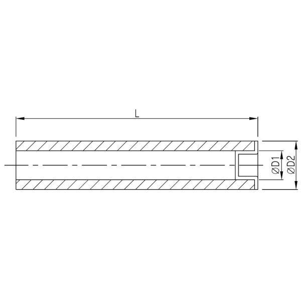 関西化工 エアレーション ポリプロピレン 散気管 K-20-300 20A×300mm エアストーン kansaikako 02